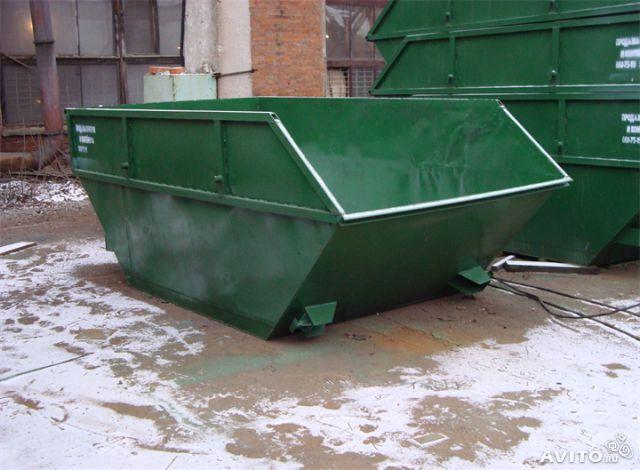 Вывоз мусора контейнером 8м3